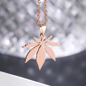 Joyería DOTIFI acero inoxidable 316L collar para las mujeres Hombre Gargantilla colgante de oro rosa de compromiso Collares