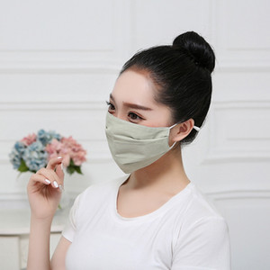 Hot men and women plus dust-proof and sun proof adjustable face mask pure cotton masks black thin fashionable design mask 6057