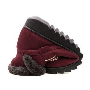 Women's Snow Boots Warm Short fur plush Winter ankle Boots Platform Ladies Suede Cotton Shoes Women Comfortable Drop shipping