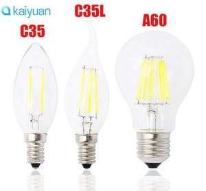 schnelles Schiff E27 E14 E12 Dimmbare Glühlampe LED 4W 8w 12w 16w High Power Glaskugel Birne 110V 220V 240V Retro führte Kerzenlicht
