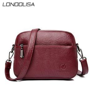 LONOOLISA дама отдых плечо Crossbody сумка Новые Сплошной цвет Малых сумки конструктора Кошелек Женщин Посланник Sac A Главный