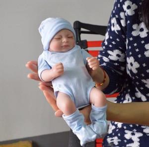 corpo inteiro bonecas de silicone renascer bebê Renascer Baby Dolls Handmade Renascido 11 polegadas real Looking Bebé recém-nascido Silicone Realistic boneca