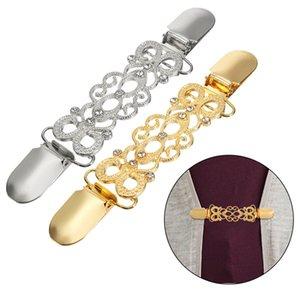 Pullover Strickjacke Clip Ente-Mund-Clips Flexible Perlen Perle Pin Brosche Schal Hemdkragen Schnallen für Kleidung Dekoration
