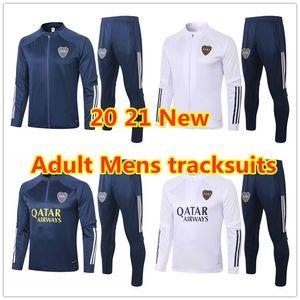 2021 Boca Juniors Men's Tracksuits soccer Jersey Home Away TEVEZ MARADONA MOURA ABILA REYNOSO DE ROSSI JRS sports football jacket