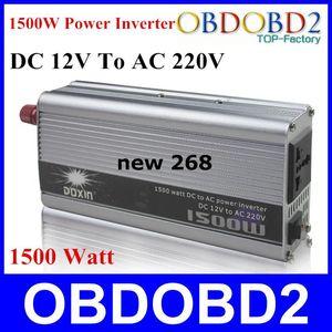 Livraison gratuite meilleure qualité 1500 W onduleur 1500 W Doxin régulateur de tension chargeur ménage DC 12V à AC 220V 1500 Watt convertisseur