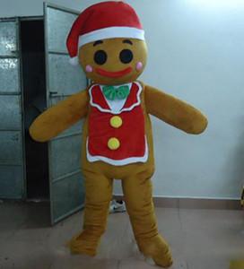 2019 Hochwertiges, heißes Gingerbread Man Maskottchenkostüm für Erwachsene zum Verkauf