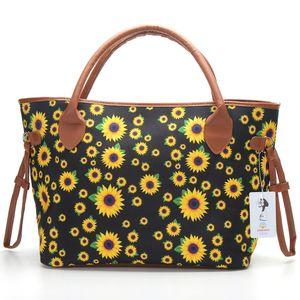 Sac fourre-tout des femmes de 20 pouces sac à main de toile de fleur de grande impression Avslappnad Fourre-tout hangbag Sac Casual Weekender Sac DC727