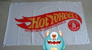 car hot service,hot wheels wihite wheels flag for banner, 90X150CM size,100% Polyester 100% polyester 0*150cm,Digital Printing