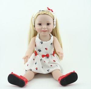 NPKDOLL américaine Baby Doll 18 pouces reborn Enfants Lifelike Filles réalistes cadeaux d'anniversaire pleine de vinyle Bath Toy 45cm Fashion Silicone