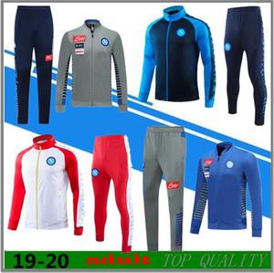 2019 2020 chaqueta de traje de entrenamiento de fútbol Napoli Nápoles 19 20 chándal de fútbol MERTENS KOULIBALY INSIGNE cremallera larga conjunto de ropa deportiva chaqueta