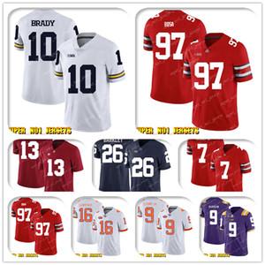 NCAA 10 Tom Brady Ник Государственного Боза Огайо Buckeyes колледж футбола Джерси Деррик Генри Маркус Мариот Кевин Byard Adoree Джексон