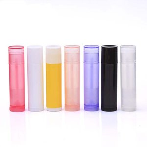 10PCS lot Cosmetic DIY Empty Chapstick Lip Gloss Lipstick Tube With Caps Container Lip Cream Cosmetic Refillable Bottle