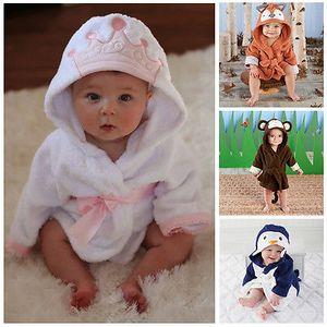 New Luvable Friends Animal Charater Platz Kapuzenbadetuch Set Baby Produkt-Karikatur-Baby-Robe aus 100% Baumwolle Baby-Badetücher
