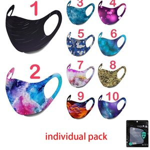 DHL in stock Starry sky masks Galaxy Camouflage Pattern Face Mask Adult Mouth Masks Ear Loop Adjustable Face Cover  face mask