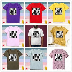 Unisex Black Lives Matéria T Shirt S-3XL Letras de Cor Sólida Imprimir Desenhador de Verão Camisetas Tendência de Manga Curta Tee Luxury Sport Top Tees D6513