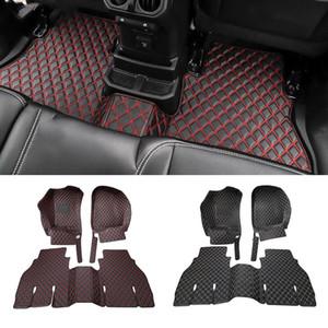 Car Leather Foot Mat Non-slip Floor Mats For Jeep Wrangler JL 2018+ Auto Interior Accessories (4Door)