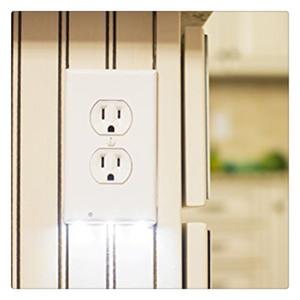 Steckdosenabdeckung mit LED-Nachtlichtern Schalterabdeckung Wandmontiertes Sicherheitslicht mit Lichtsensor Heißer Verkauf