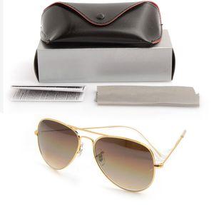 높은 품질 파일럿 선글라스 디자이너 일요일 안경 그라데이션 유리 렌즈 58 mm 렌즈 안경 안경 망 경우 원래 안경 케이스