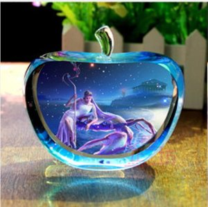 12 Constellations Statuetten Glitte Kristallglas Apple-Figuren Miniatur Engel Figuren Ornamente Home Decoration accessoriesNovelty Lig