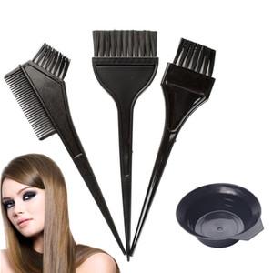 Saç Rengi Boya Bowl Tarak Fırçalar Araç Seti Seti Ton Boyama Boya Bowl Tarak Fırça İkiz Yüksek Kaliteli Başlı Fırçalar Seti