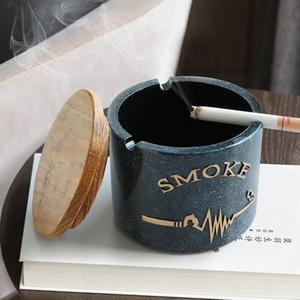 Resin Aschenbecher Moden Mit Deckel für Tabletop-Geschenk für Freunde Hotels im Freien Hauptdekoration Smokeless Aschenbecher Halter T200111