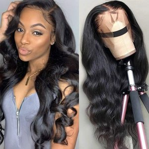 Popular Silky Body Wave Deep Wave Lace Frontal Wig Full Lace Human Hair Wig Remy Hair Pre Plucked Hairline For Black Women Brazilian