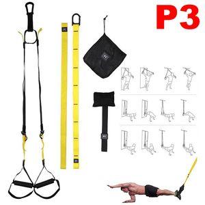 P3-1 / 2/3 Virson Süspansiyon Yoga Egzersiz Gym Fitness sapanlar Direnç Band Egzersiz Çekme Halat sapanlar Spor Eğitmeni Ev Gym Egzersiz