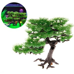 New Aquarium Artificial Plants Plastic Pine Fish Tank Accessories Bonsai Decoration