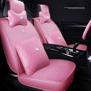 Roxo Automobile Car Seat Covers Couro PU 1 Set Universal Car Seat Cover Para Toyota Subaru Honda Auto Interiors Acessórios