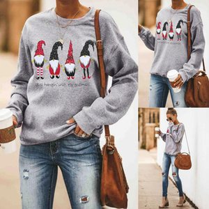 Femmes Noël Designer Sweatshirts Mode en vrac de Noël Imprimer Femmes Sweat Crew Casual Neck Les femmes Vêtements