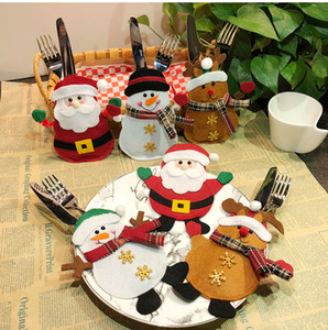 Christmas Decorations Snowman Kitchen Tableware Holder bag Party gift Xmas ornament Christmas decorations for home table YD0412