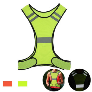 Fashion Adjustable Night Riding Safety Reflective Vest Bicycle Vest Safety Warning Fluorescent Night Clothes Bicycle Vest