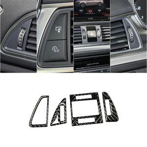 Консольный воздуха на выходе украшения блестки крышки уравновешивания углеродного волокна для Audi A6 C7 A7 2012-2018 LHD автомобилей Стайлинг Аксессуары для интерьера