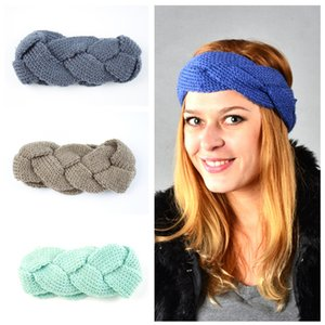 Free DHL INS 24 Colors Woman Elastic Knitted Headband Crochet Twist Headwear Turban Winter Ear Warmer Head Wrap Hair Accessories
