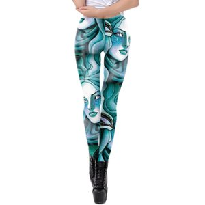 Gothic Leggings Women Multicolor Print Sport pencil Pants jogging High Waist skinny Legging Sweatpants Push Up Workout Trousers