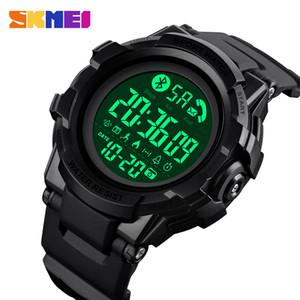 Huawei Xiaomi 1501 için SKMEI Moda Akıllı İzle Erkekler Bluetooth Bilek Smartwatch Mens Çağrı APP Mesaj Hatırlatma reloj inteligente