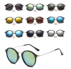 النظارات الشمسية للأزياء للرجل امرأة جولة نظارات فاخرة نظارات مصمم نظارات الشمس مات مات ليوبارد التدرج uv400 عدسات