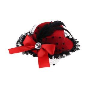 Doll Vintage Bowler Cap large Brim Top Hat, pour un tiers BJD fille Dress Up Dolls