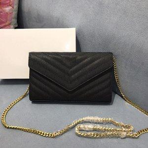 Klassische V-Form-Frauen Kaviar reale leatheer Beutel Handtaschen Geldbeutel Kette Damen diagonaler-Kuriertasche Disco-Taschen Filp Portemonnaie