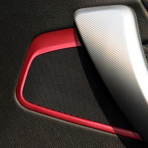 2pcs Car Styling Car Speaker Áudio Porta Altifalante guarnição etiqueta Acessórios anel de cobertura Círculo decorativo para BMW F20 2011-2016 Série 1