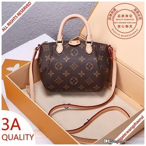 3A quality shoulder handbag women real leather wallet crossbody bags monograam canvas evening bag lady purse with box