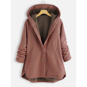 Abrigo de la tela escocesa de invierno de las parkas del invierno de las mujeres.