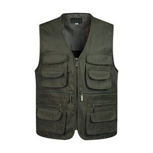 Man Vests Sleeveless Unloading Fashion Waistcoat With Many Male Coat Pockets Military Jacket Mens Tactical Vest Sweatshirts