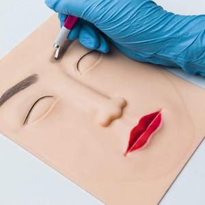 Prática do tatuagem da cara 3D desenho da pele Falso Para Iniciantes 3D permanente da composição Lips sobrancelha Rosto prática de tatuagem