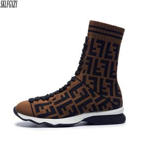 Chaussettes tricotées à la mode européenne pour femmes bottes tricotées styles authentiques doublure femme bottes chaussures pointures