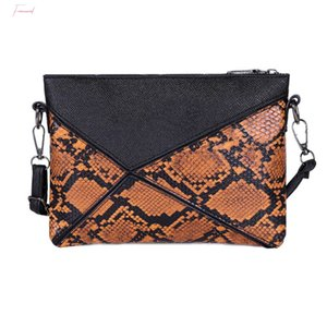 Women Shoulder Snake Skin Print Messenger Bags Fashion Crossbody Clutch Bag Sac A Dos Bolsas Feminina Mujer Sac A Main
