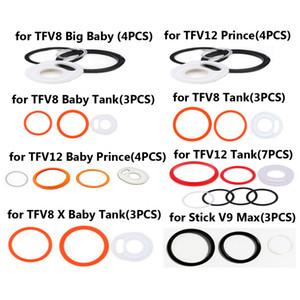 Anillos de silicona S para Smok TFV12 Príncipe TFV12 bebé príncipe TFV8 bebé TFV8 X-bebé TFV8 Big Baby Tanque