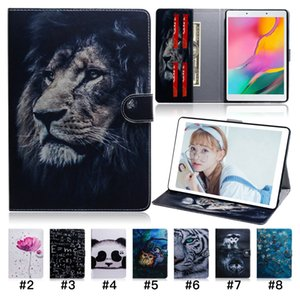 TPU PU Painted Tablet Case for iPad Pro 11 iPad Air 3 10.5 iPad Mini 1 2 3 4 5 Multi Card Slots Samsung Tab A 8.0 T290 Flip Stand Cover Case