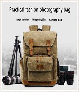 Fashion travel shoulder camera bag waterproof canvas men's and women's computer backpack with single-lens reflex digital shoulder camera bag