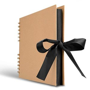 سجل القصاصات ، ألبوم صور 40 صفحة ، عظيم لذكرى ورق DIY DIY ، زفاف أسود اللون البني 2